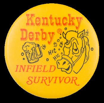 Kentucky Derby Infield Survivor Event Button Museum