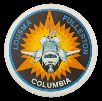 Lousma Fullerton Columbia Event Button Museum