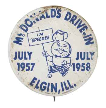 Mc Donald's Drive-In Event Button Museum