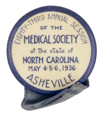Medical Society Asheville Event Button Museum