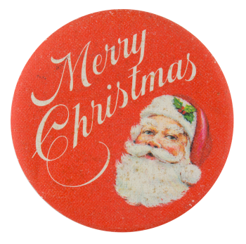 Merry Christmas Santa Events Button Museum