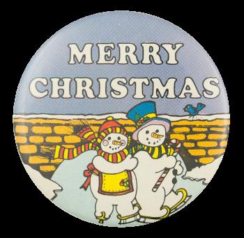 Merry Christmas Snowmen Event Button Museum