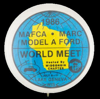 Model A Ford World Meet  Event Button Museum