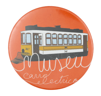 Museu do Carro Electrico Orange Event Button Museum