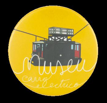 Museu do Carro Electrico Yellow Event Button Museum