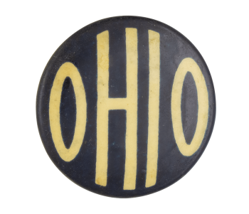 Ohio Blue button Event Button Museum