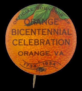 Orange Bicentennial Event Button Museum