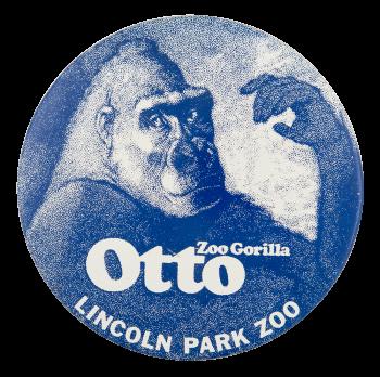 Otto Zoo Gorilla Event Button Museum