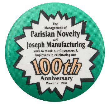 Parisian 100th Anniversary Event Button Museum
