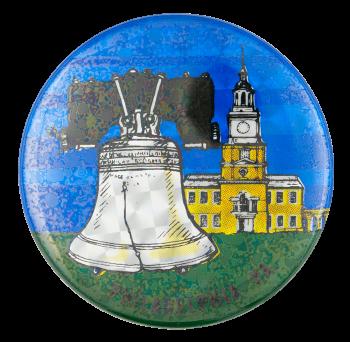 Philadelphia Pennsylvania Liberty Bell Event Button Museum