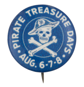 Pirate Treasure Days Event Button Museum