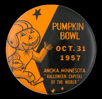 Pumpkin Bowl 1957 Event Button Museum