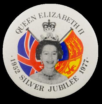 Queen Elizabeth II Silver Jubilee Event Busy Beaver Button Museum