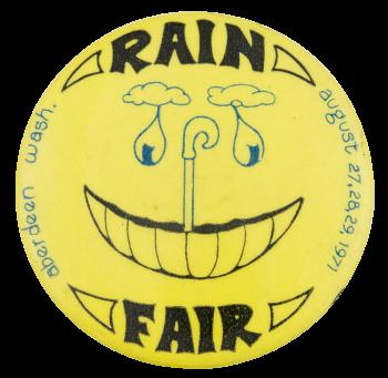 Rain Fair Aberdeen Smileys Button Museum