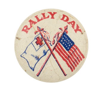 Rally Day Flags Event Button Museum