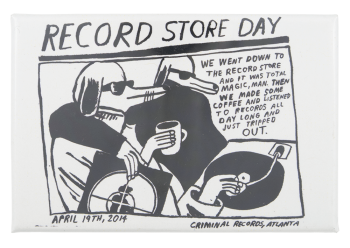 Record Store Day 2014 Event Button Museum