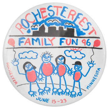 Rochesterfest Family Fun '96 Event Button Museum