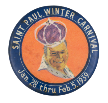Saint Paul Winter Carnival 1939 Event Button Museum