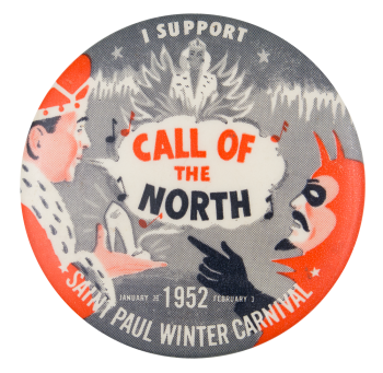 Saint Paul Winter Carnival 1952 Event Button Museum