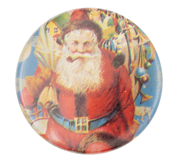 Santa Illustration Event Button Museum