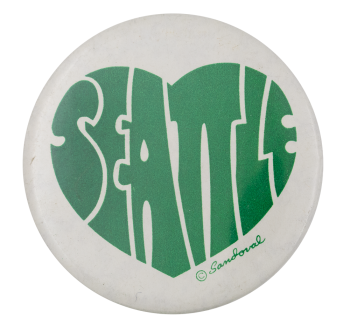 Seattle Green Heart Event Button Museum