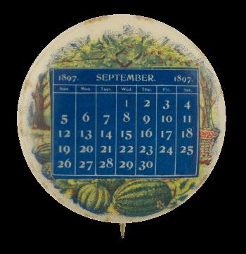 September Calendar 1897 Event Busy Beaver Button Museum