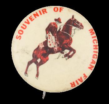 Souvenir of Michigan Fair Event Button Museum