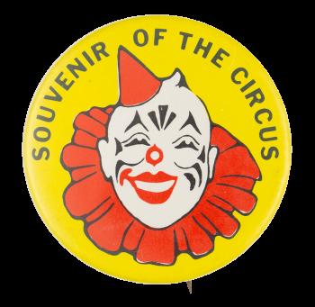 Souvenir of the Circus Yellow Event Button Museum