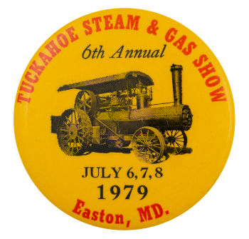 Tuckahoe Steam and Gas Show Event Button Museum