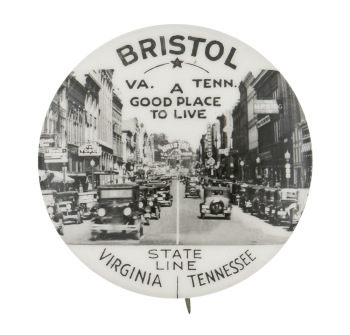Virginia Tennessee State Line Event Button Museum