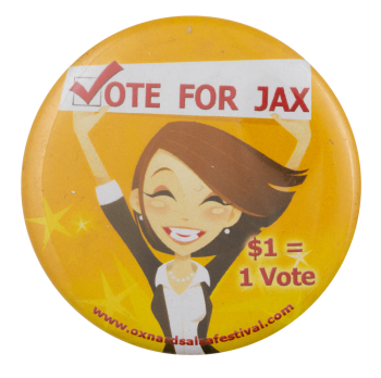 Vote for Jax Event Busy Beaver Button Museum