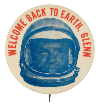 Welcome Back To Earth Events Button Museum