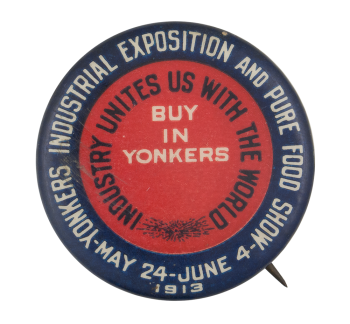 Yonkers Industrial Exposition Event Button Museum