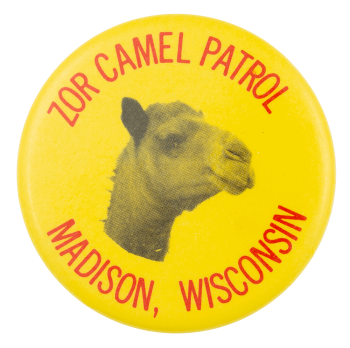 Zor Camel Patrol Event Button Museum