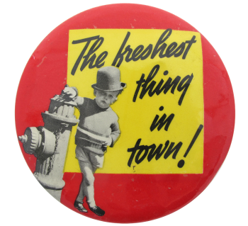Freshest Thing In Town Humorous Button Museum