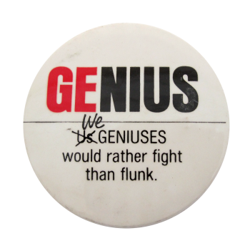 Genius Humorous Button Museum