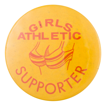 Girls Athletic Supporter Humorous Button Museum