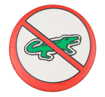 No Izod Humorous Button Museum
