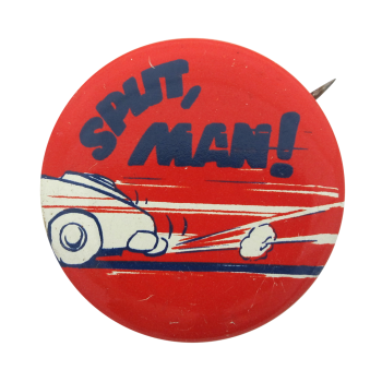 Split Man  Humorous Button Museum