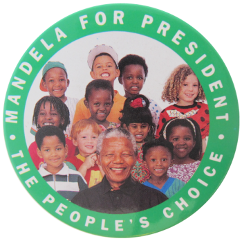 Nelson Mandela For President, Political, Button Museum