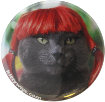 Kitty Wigs Advertising Button Museum