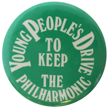 Philharmonic Young People's Drive Cause Busy Beaver Button Museum