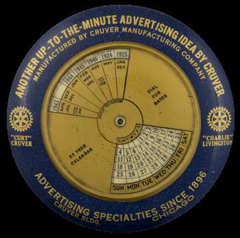 Cruver Advertising Calendar Innovative Busy Beaver Button Museum