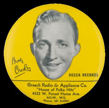 Bing Crosby Decca Records Innovative Button Museum