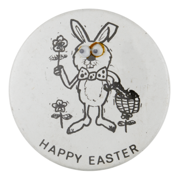 Happy Easter Rabbit Innovative Button Museum