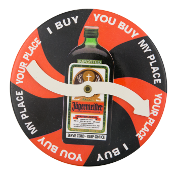 Jägermeister Game Red and Black Innovative Button Museum