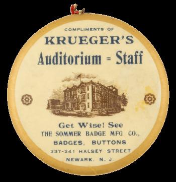 Krueger's Auditorium Staff Innovative Button Museum