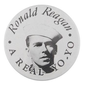 Ronald Reagan a Real Yo-Yo Innovative Button Museum