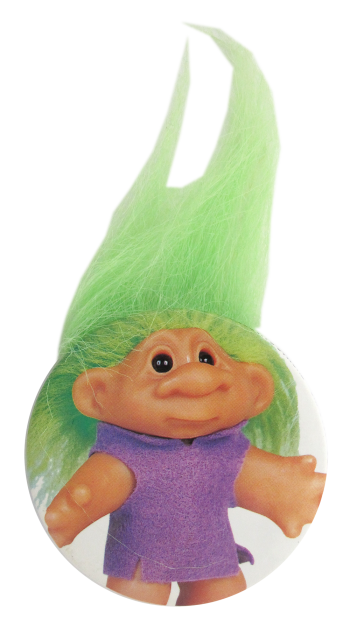 Troll Doll Green Innovative Button Museum