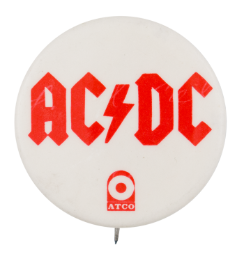 AC/DC Atco Music Button Museum